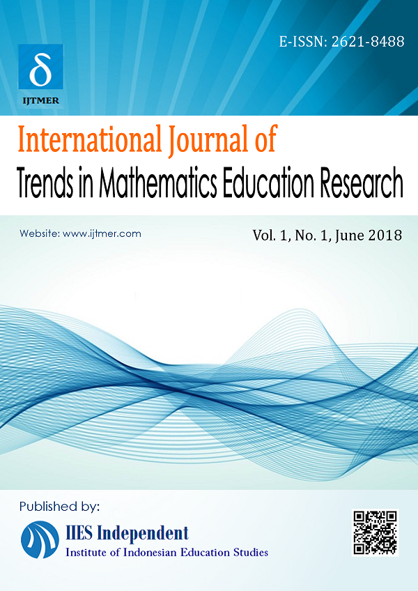 International Journal of Trends in Mathematics Education Research (IJTMER)