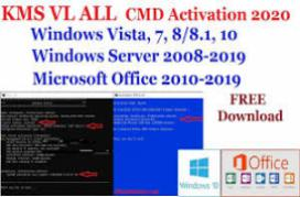 Activator CMD Windows 10 and Office 2019 - March 2019